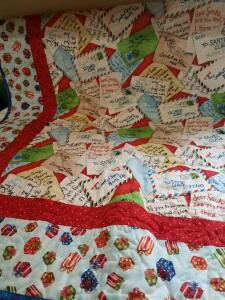 "Christmas Quilt- 54"" x 68""- Donated by Yards of Fabric"