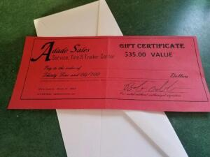 Adado Sales $35 Gift Certificate- Donated by Cathy Pinkos