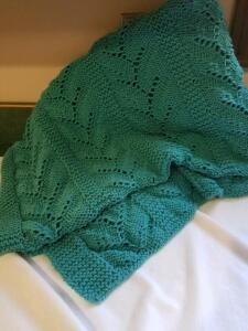 Lap Afghan (teal)- Donated by Friend of Optimist