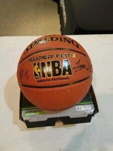 Autographed basketball signed by Hall of Fame coach Tom Izzo- Donated by Friend of Optimist