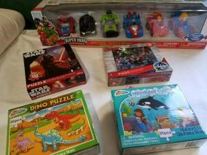 Toys: Super Hero Cars, 4 Puzzles- Donated by Friend of Optimist