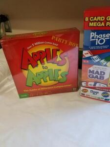 Games: Apples to Apples, 8 Card Games Mega Pack- Donated by Friend of Optimist
