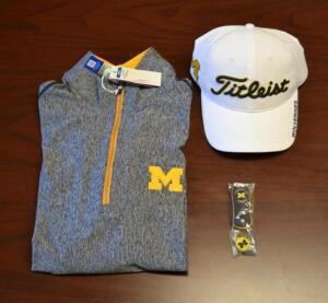 U of M Memorabilia- Titleist Hat, Shirt and Ball Marker- Donated by Vickie Vandenbelt