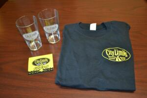 City Limits Bundle- $75 Gift Card, T-Shirt and (2) Etched Glasses- Donated by City Limits