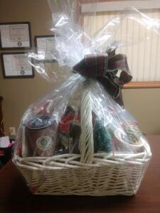 Gift Basket- Ornaments, Decorations, Mugs and More- Donated by Timeless Treasures