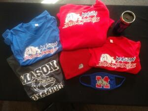 Mason Bulldogs Gift Box- T-Shirts, Sweatshirt, Hat, Mask and Mug- Donated by It's Yours