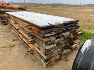 Pallet of Rough Cut Lumber 60 Pieces