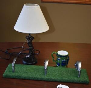 Golf Lamp, Hat Hanger and Mug- Donated by Mason Firefighters Assn.