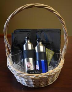 Gift Basket- $75 Bad Brewing Gift Card, Bottles, Glasses and Blanket- Donated by Oracle Financial