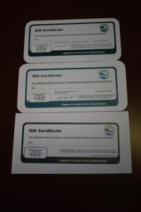 Ingham County Parks Gift Certificates-