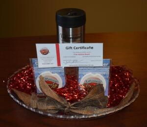 LaFontaine Gift Bowl- Vehicle Detail Gift Certificate, Cup Holder Inserts and Tumbler