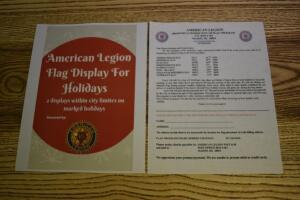 2 Flag Displays for the Holidays for 1 year