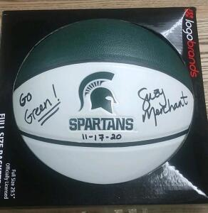 Basketball Autographed by MSU Women's Head Coach Suzy Merchant- Donated by Friend of the Chamber