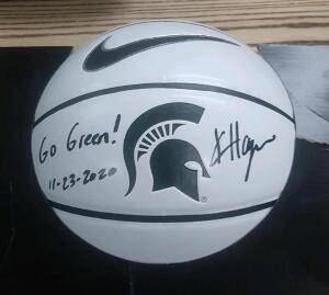 Basketball Autographed by MSU Women's Assistant Coach Kristin Haynie