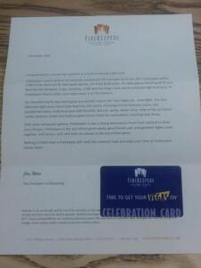 $100 Fire Keepers Gift Card- Expires Nov 30 2021- Donated by Friend of the Chamber