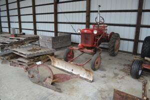 Farmall Cub with blade and 1 bottom plow