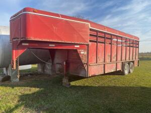 2000 Red Coose Stock Trailer