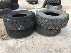 (4) 445/65R22.5 Tires