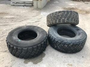 (3) 445/65R22.5 Tires