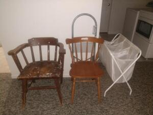 Step Stool, Chairs, Laundry Basket