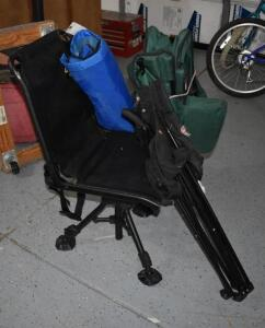 (3) Folding Chairs and Hunting Chair