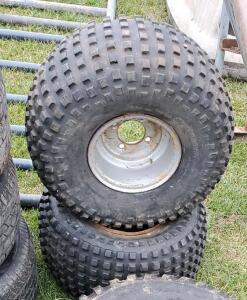 (2) Rear Lawn Mower Tires 22 x 11.00 - 8