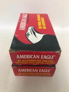 (2) Boxes of 45 Auto Ammo