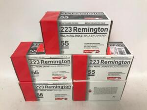 (5) Boxes of .223 Remington Ammo