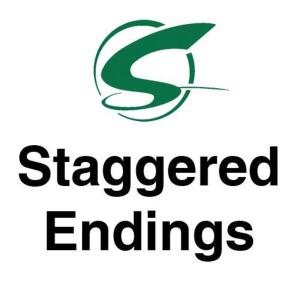 Staggered Endings- 3 lots/minute