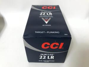 CCI 22 LR Quiet-22 40gr Lead Round Nose - 500 Rounds