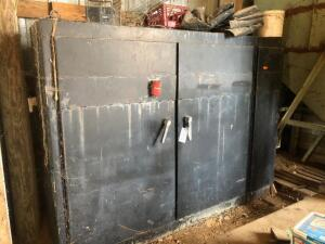 Large Metal Storage Cabinet and Contents