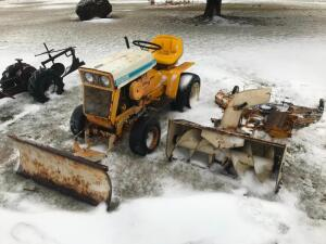 Cub Cadet 124 Garden Tractor with Snow Blade, Snow Blower and Mower Deck