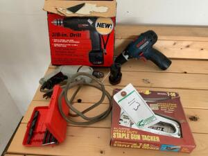 Drills, Drill Bits and Staple Gun