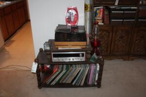 Pioneer Stereo Receiver, Acoustic Research Speakers, Record Player, Records, Etc.