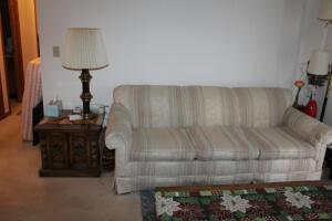 Couch, Chair, (2) End Tables with Lamps