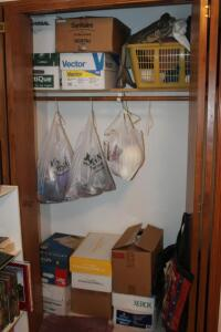 Contents of Closet- Yarn, Fabric, Etc.
