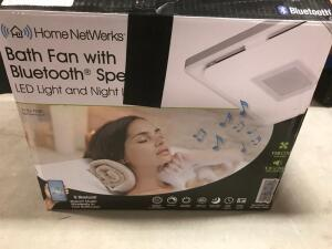 Bath Fan with Bluetooth Speaker with LED Light and Night Light