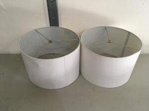 "2 Lamp Shades (15"" Diameter x 10 Height) One has a few Marks"