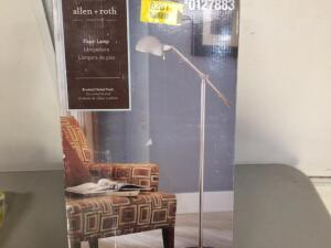 Like New Portfolio Embleton 56-in Brushed Nickel Floor Lamp with Metal Shade