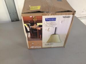 Progress Lighting Bravo 7.25-in W Antique Bronze Pendant Light (Works Good, Globe not Included)