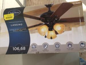 "Harbor Breeze 0176493 Lansing Aged Bronze 42"" Ceiling Fan Close Mount / Indoor"