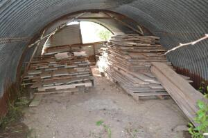 oak lumber and contents of the quonset