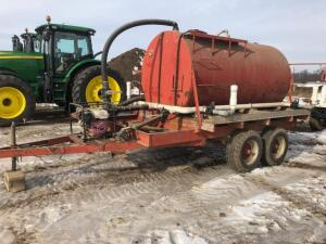 Water Tanker Trailer, Pump with Honda GX240 8hp engine
