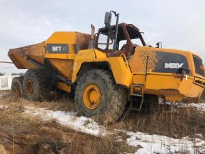 Moxy MT41 Off Road Dump Truck, Fire Damaged