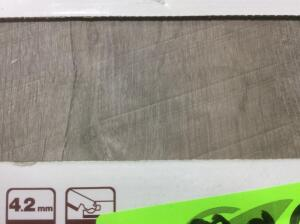 Approx 70 Sq Ft Vinyl Plank Flooring Stony Oak Beige & Grey