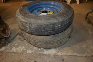 set of mounted tires