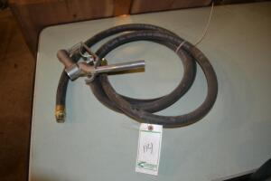 fuel hose and shut off handle with desk