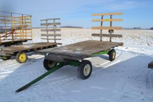 flat rack hay wagon with back rack