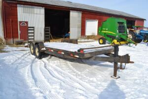 tandem axle flatbed trailer with pintal hitch