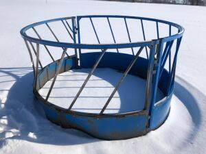 Frey Brothers Round Bale Feeder, has been damaged